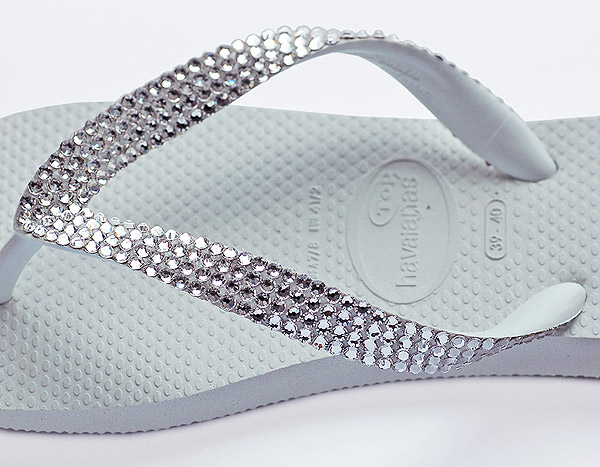 How to Make Swarovski Crystal Flip Flops Tutorial