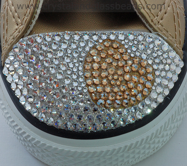 How to Crystallize a Swarovski Heart on Converse Trainers