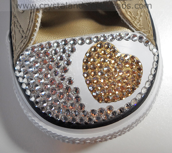 How to Crystallize a Swarovski Heart on Converse Trainers 6927022bb