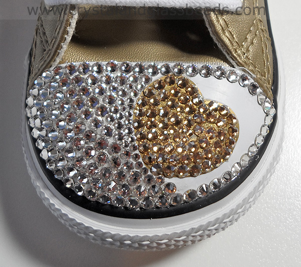 How to Crystallize a Swarovski Heart on Converse Trainers 3b0efbf2b1