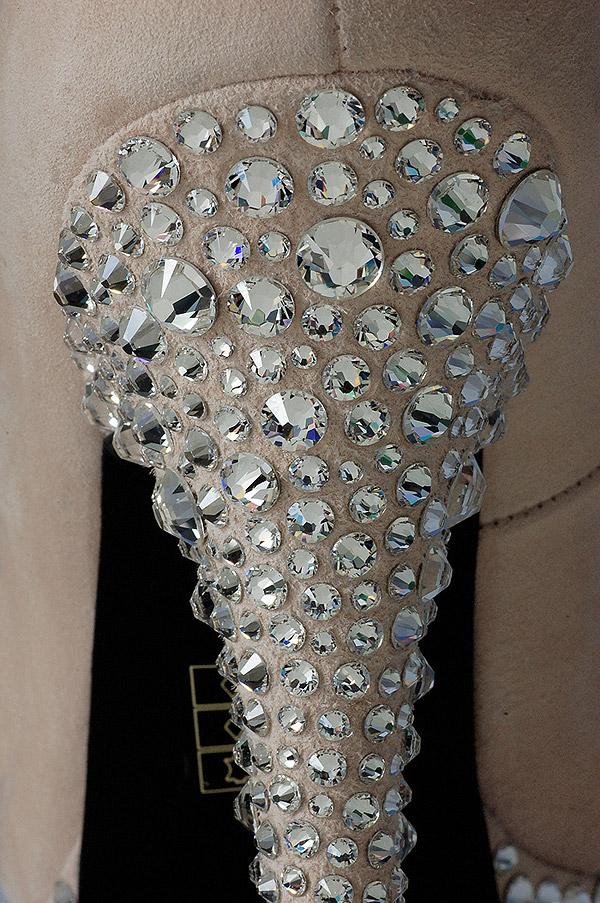 Swarovski crystal heel