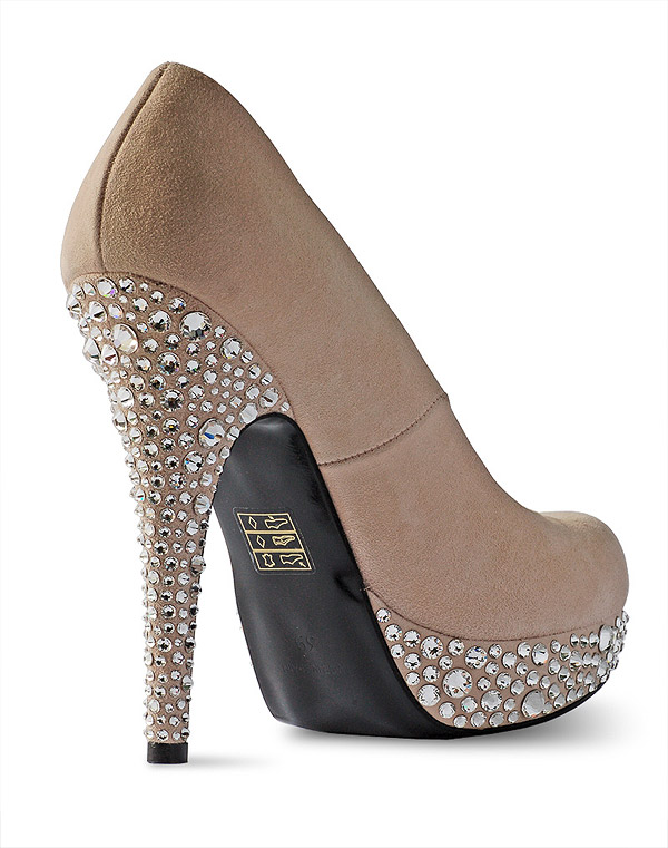 Swarovski shoes high heel back view