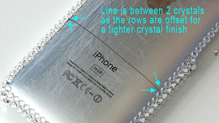 draw line across iphone case