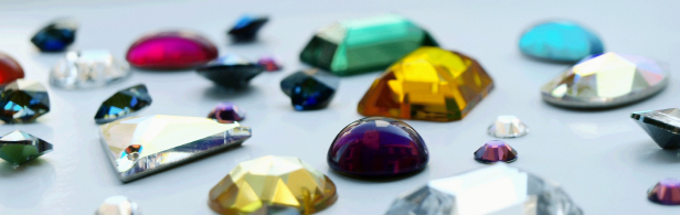 Image of various rhinestones