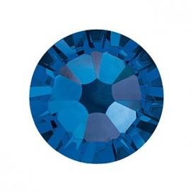 Capri Blue ss20 Swarovski Hotfix Flat Back Crystals 2038 Pack of 50 Pcs
