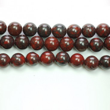 6mm Brecciated Jasper round gemstone beads string
