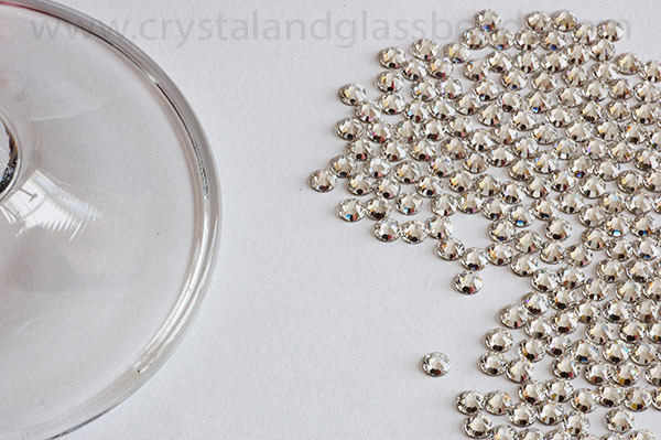 Prepare/layout the crystals for crystallizing the glass